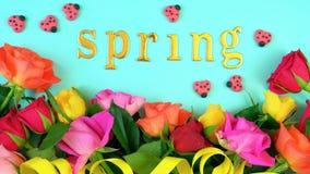 Printemps aérien avec de belles fleurs fraîches Photographie stock