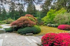 Printemps au jardin japonais Photos stock