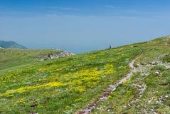 Printemps sur le massif montagneux de Chatyr-Dah en Crimée photographie stock