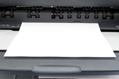 Printer_1. Image of a computer printer with space for text Stock Photography
