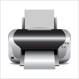 Printer. Isolated printer vector on white Stock Photos