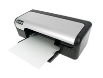 Printer. Isolated on pure white background Royalty Free Stock Image