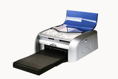 Printer. A sublimation portable fotoprinter is isolated on a white background Royalty Free Stock Images