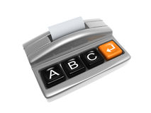 Printer. Sliver printer with keypad isolated on white background Royalty Free Stock Photography