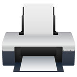 Printer. Detailed illustration of an ink jet printer Royalty Free Stock Photography