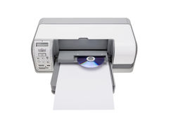 Printer with the ability to print on CDs. Stock Image