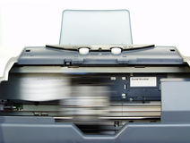 Printer in Actie Royalty-vrije Stock Foto's