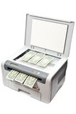 Printer And Money Stock Photography
