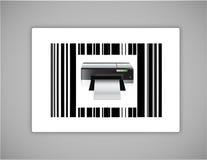 Printer bar ups code illustration Royalty Free Stock Photo