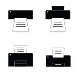 Printer black and white  Royalty Free Stock Photography