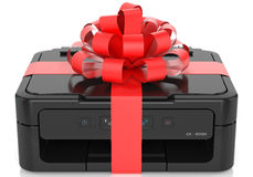 Printer with a bow Royalty Free Stock Photography