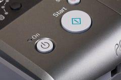 Printer On Button stock image