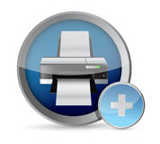 Printer button illustration design Stock Image