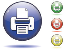 Printer button symbol Royalty Free Stock Images