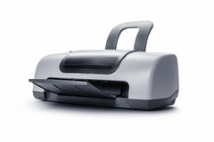 Printer. Color printer on white background royalty free stock photos
