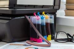 Printer, copier, scanner. Stock Photo