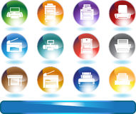 Printer / Copy Machine Icons Royalty Free Stock Photos