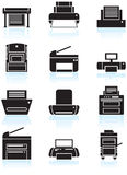 Printer / Copy Machine Icons Stock Image
