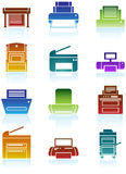 Printer / Copy Machine Icons Royalty Free Stock Image