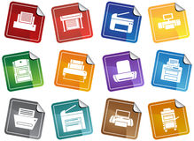 Printer / Copy Machine Icons Stock Photography