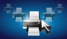 Printer cursor selection concept Stock Images