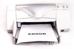 Printer Error Stock Photos