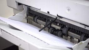 Printing documents stock footage