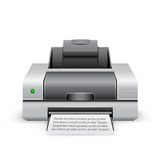 Printer icon Royalty Free Stock Photo