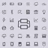 Printer icon. Detailed set of minimalistic icons. Premium graphic design. One of the collection icons for websites, web design, mo. Bile app on colored Royalty Free Stock Images