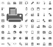 Printer icon. Media, Music and Communication vector illustration icon set. Set of universal icons. Set of 64 icons.  Royalty Free Illustration