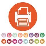 The printer icon. Printing symbol. Flat Royalty Free Stock Photos