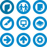 Printer icon set Royalty Free Stock Images