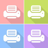 The Printer icon set great for any use. Vector EPS10. Stock Images