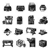 Printer icon set, simple style vector illustration