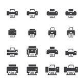 Printer icon set Royalty Free Stock Photo