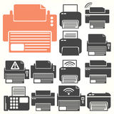 Printer icon sit Royalty Free Stock Image