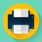Printer icon, vector illustration. Flat design style. Printer icon, vector illustration. Flat design style Royalty Free Stock Photo