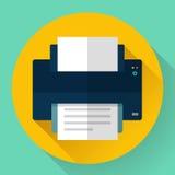 Printer icon, vector illustration. Flat design style. Royalty Free Stock Photo