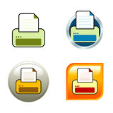 Printer Icons Stock Photography