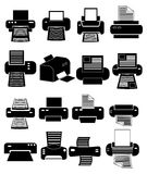 Printer icons set Royalty Free Stock Photos