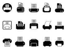 Printer icons set Royalty Free Stock Photo
