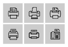 Printer icons Royalty Free Stock Photos