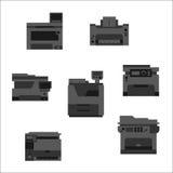 Printer icons Royalty Free Stock Photo