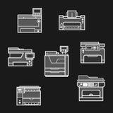 Printer icons Royalty Free Stock Image