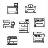 Printer icons Stock Photo