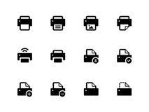Printer icons on white background. Vector illustration vector illustration