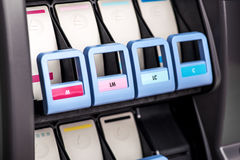 Printer inks mechanism Stock Photo