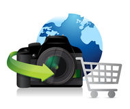 Printer international shopping concept Stock Photos