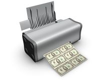 Printer isolated on white Royalty Free Stock Photos