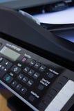Printer keyboard. Close up of a printer keyboard and display Stock Photo